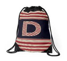 BROOKLINER BOSTON 1920s MONOGRAM alphabet letter initial  D Drawstring Bag