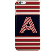 Brookliner Boston 1920s Monogram initial  A iPhone Case/Skin