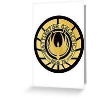 Battlestar Galactica Golden Logo Greeting Card