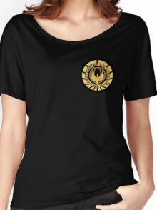 Battlestar Galactica Golden Logo Women's Relaxed Fit T-Shirt
