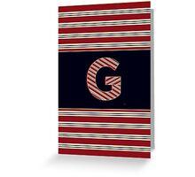 1920s Boston Monogram letter G Greeting Card