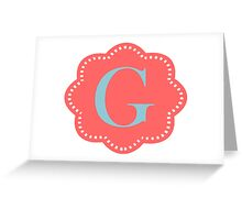 G Cloudy Greeting Card