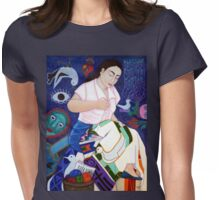 Violeta Parra embroidering life Womens Fitted T-Shirt