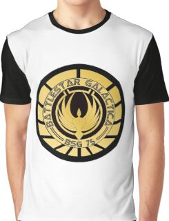 Battlestar Galactica Golden Logo Graphic T-Shirt