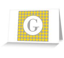 G Checkard Greeting Card