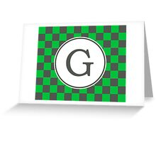 G Checkard II Greeting Card