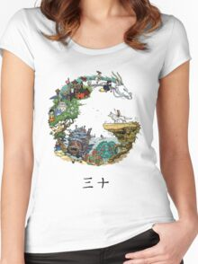 Studio Ghibli Women's Fitted Scoop T-Shirt