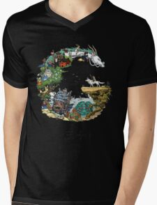 Studio Ghibli Mens V-Neck T-Shirt