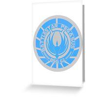 Battlestar Pegasus Logo Greeting Card