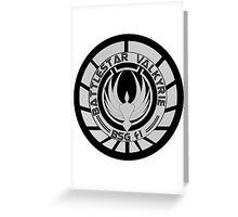 Battlestar Valkyrie Logo Greeting Card