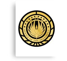 Presidential Seal of the twelve colonies Golden Logo Canvas Print