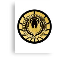 Battlestar Andromeda Golden Logo Canvas Print