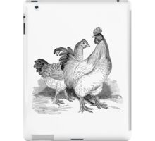 Vintage Rooster Illustration Retro 1800s Black and White Chicken Image iPad Case/Skin