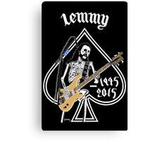 "Long lived to win Ian ""Lemmy"" Kilmister (Motorhead) Canvas Print"