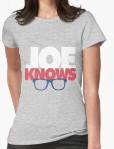 Joe Knows Baseball Womens Fitted T-Shirt