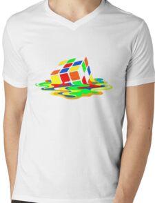 Rubik's Cube Cool Geek Mens V-Neck T-Shirt