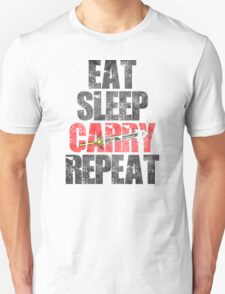 Eat Sleep Carry Repeat Unisex T-Shirt