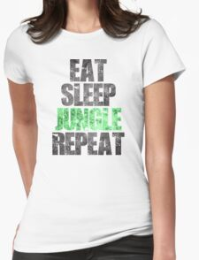 Eat Sleep Jungle Repeat Womens Fitted T-Shirt