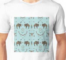 Blue Sky Prairie Buffalo Unisex T-Shirt