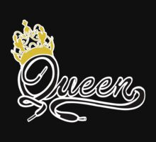 Queen (Black) The Hers of the His and Hers One Piece - Short Sleeve