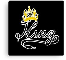 KING (Black) The His of The His and Hers couple shirts Canvas Print