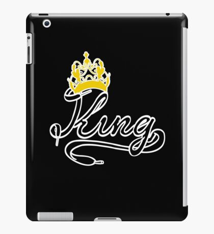 KING (Black) The His of The His and Hers couple shirts iPad Case/Skin