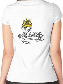 KING (White) The His of The His and Hers couple shirts Women's Fitted Scoop T-Shirt
