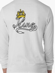 KING (White) The His of The His and Hers couple shirts Long Sleeve T-Shirt