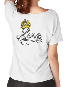 KING (White) The His of The His and Hers couple shirts Women's Relaxed Fit T-Shirt