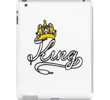 KING (White) The His of The His and Hers couple shirts iPad Case/Skin