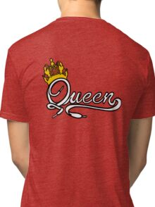 Queen (White) The Hers of the His and Hers Tri-blend T-Shirt