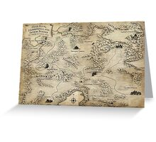 Elder Scrolls Tameriel Map Greeting Card