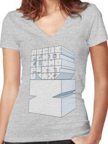 Z's Alphabet Women's Fitted V-Neck T-Shirt