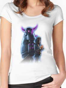 clash  of clan  Women's Fitted Scoop T-Shirt