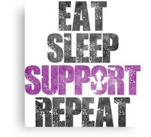 Eat Sleep Support Repeat Canvas Print