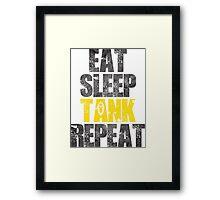 Eat Sleep Tank Repeat Framed Print