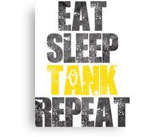 Eat Sleep Tank Repeat Canvas Print
