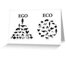 Eco vs. Ego Greeting Card