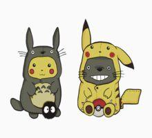 Totoro partner pikachu Kids Tee