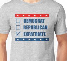 Election Democrat Republican Expatriate Unisex T-Shirt