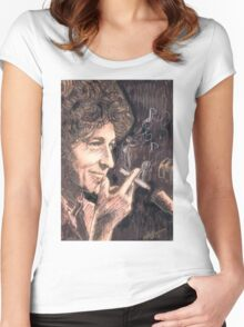 SMOKING DYLAN Women's Fitted Scoop T-Shirt