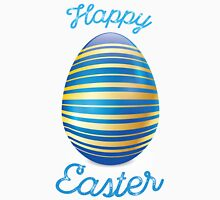 Happy Easter With Blue Easter Egg Unisex T-Shirt