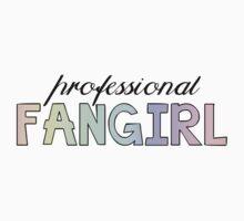 Professional Fangirl Pastel Rainbow Statement T-Shirt Case  One Piece - Short Sleeve