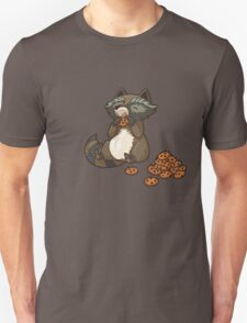 Funny little raccoon eating cookies Unisex T-Shirt