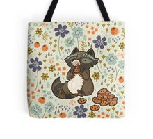 Funny little raccoon eating cookies Tote Bag