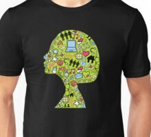 Social network head Unisex T-Shirt