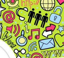 Social network head Sticker