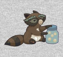 Funny little raccoon collects crickets Kids Tee