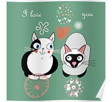 I love you kitty Poster