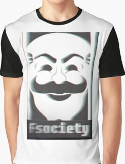 MR. ROBOT F*CK SOCIETY Graphic T-Shirt